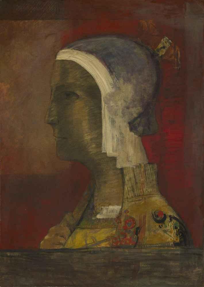 Symbolic Head - Odilon Redon