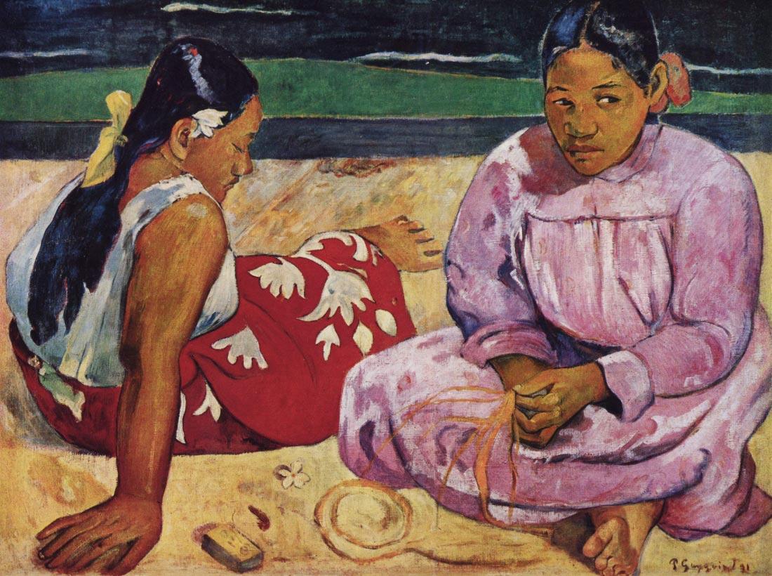 Tahitian Women on Beach - Gauguin