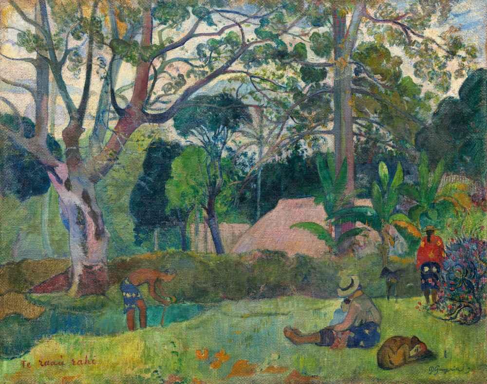 Te raau rahi (The Big Tree) - Paul Gauguin