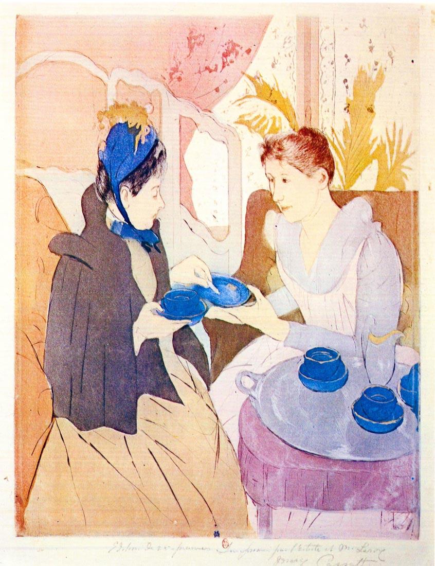 Tea in the afternoon - Cassatt