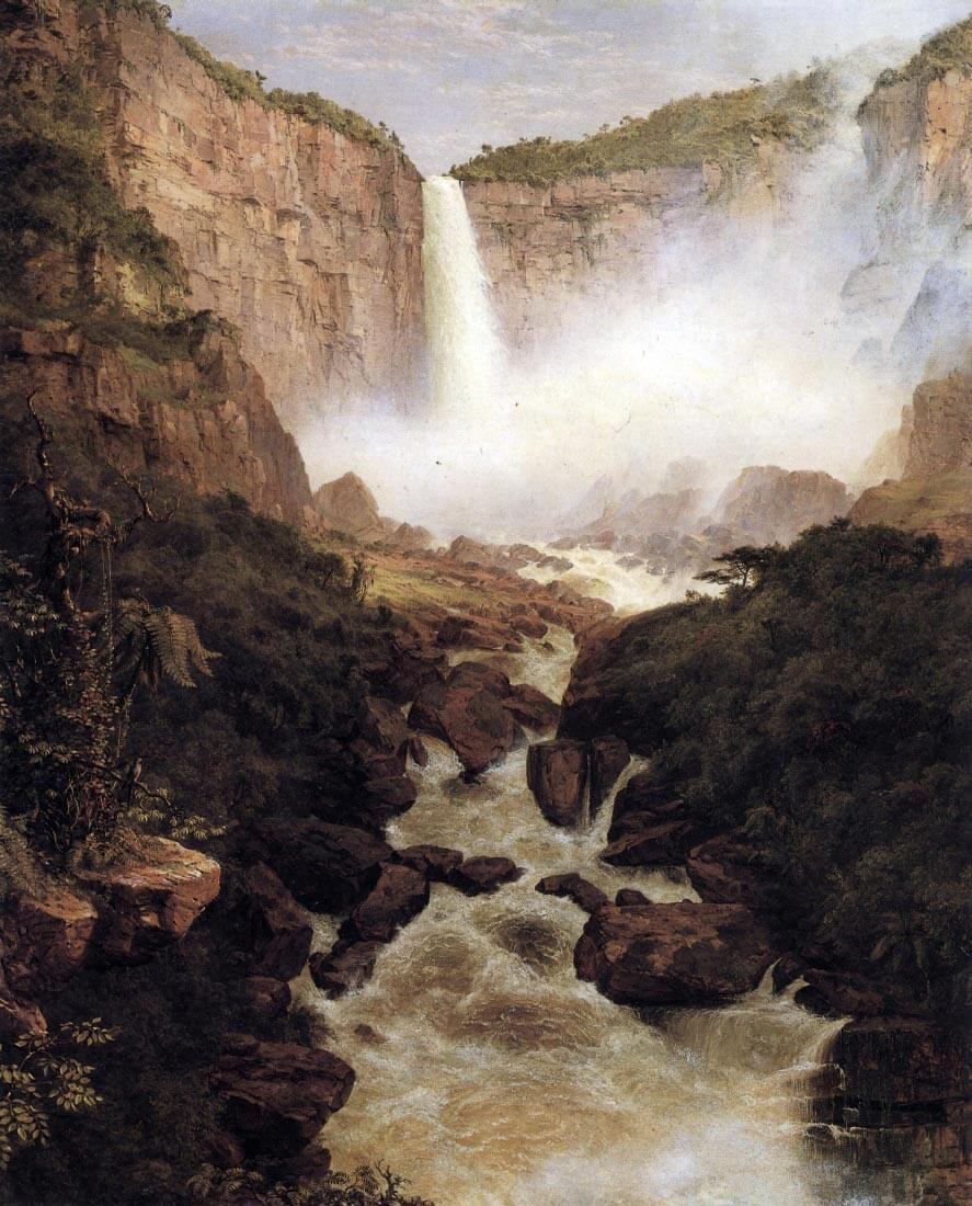 Tequendama falls, near Bogota, New Granada - Frederick Edwin Church