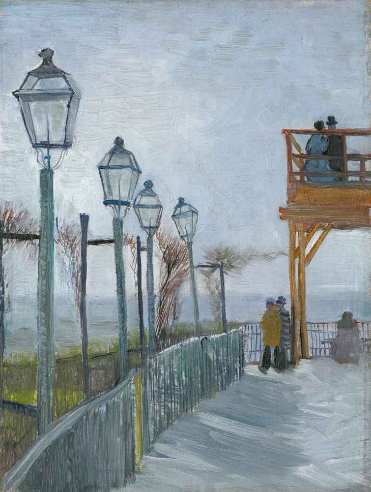 Terrace and Observation Deck at the Moulin de Blute-Fin, Montmartre -