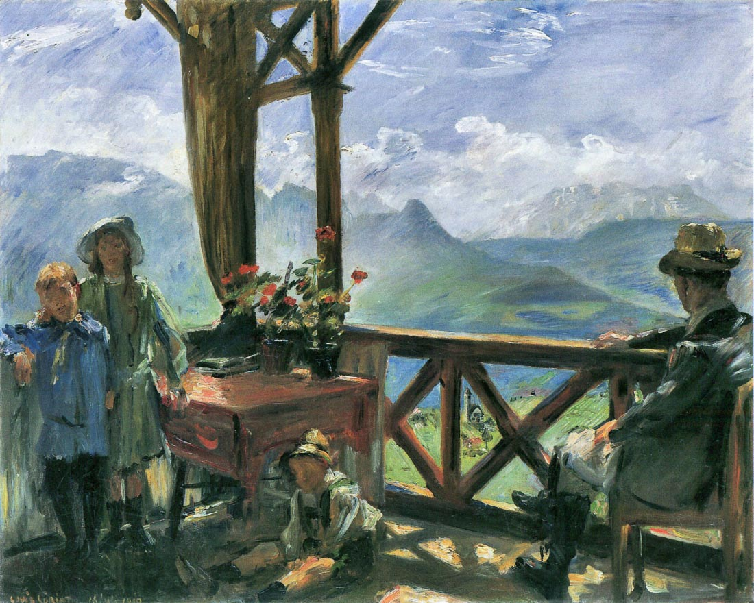 Terrace in Klobenstein, Tyrolia - Lovis Corinth