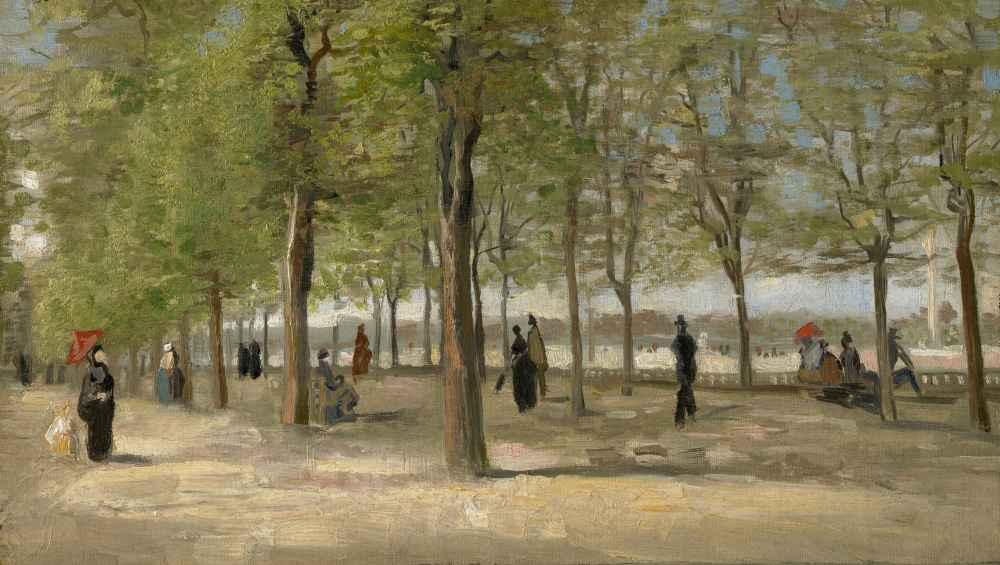 Terrace in the Luxembourg Gardens - Vincent van Gogh