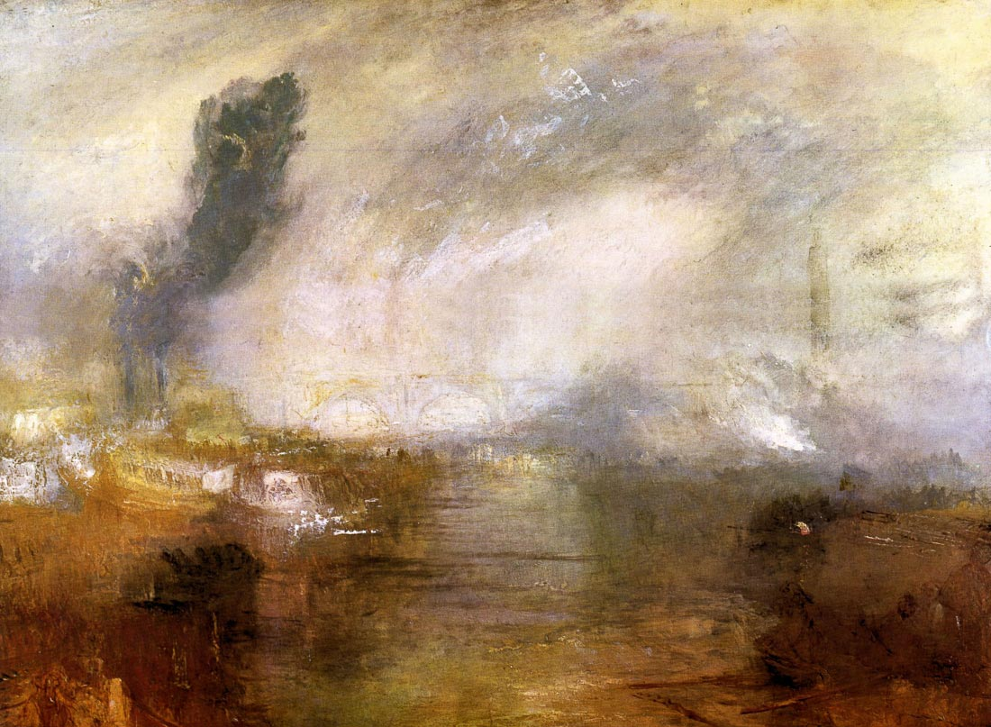 Thames above Waterloo bridge - Joseph Mallord Turner