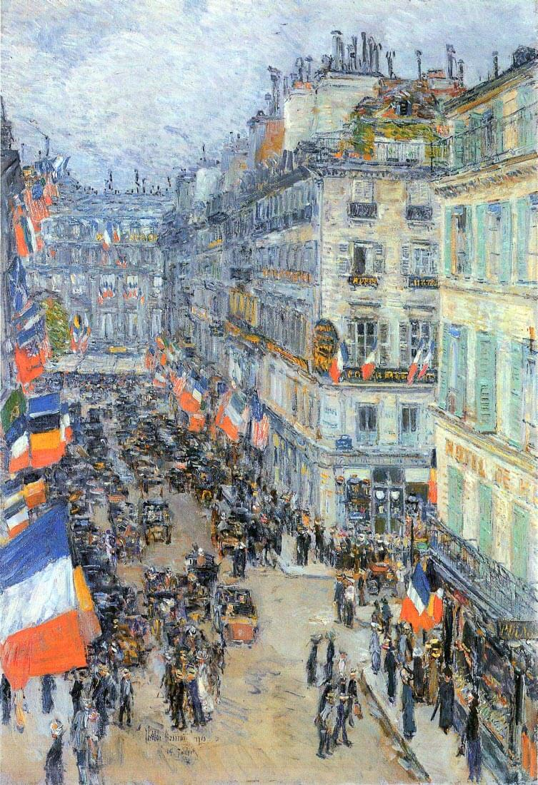 The 14th July, Rue Daunou - Hassam