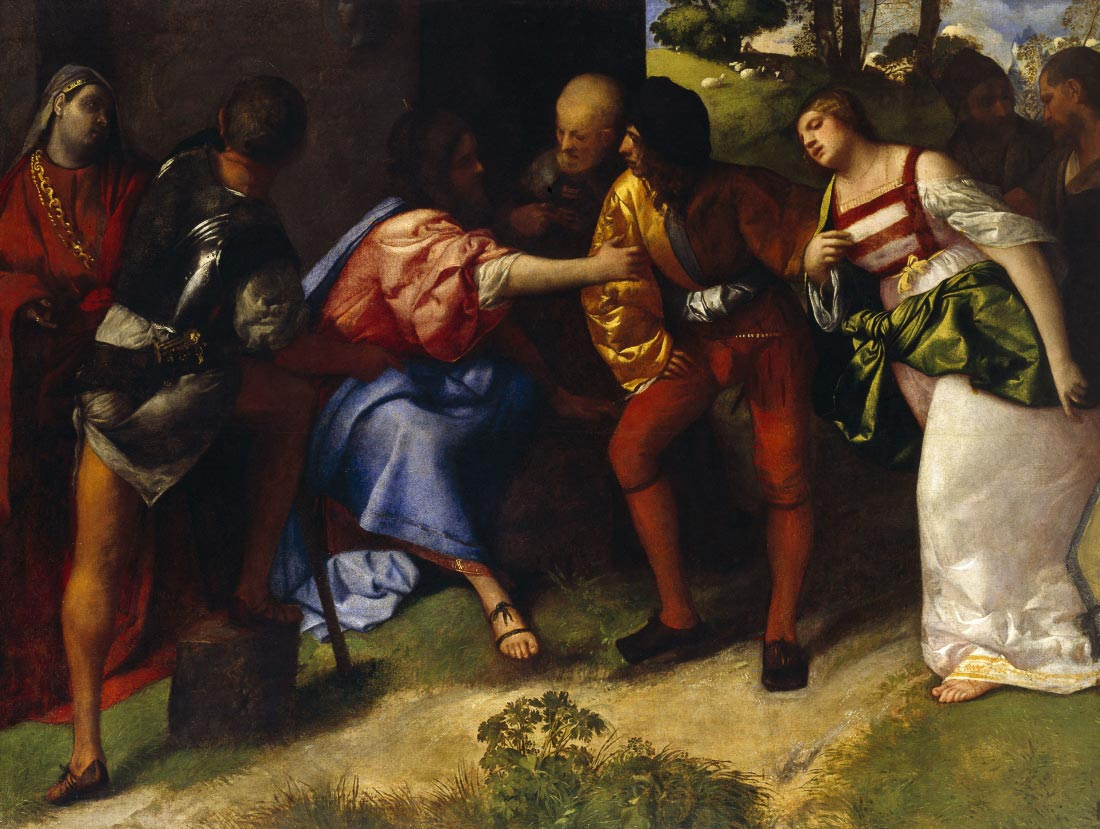 The Adultress before Christ - Titian