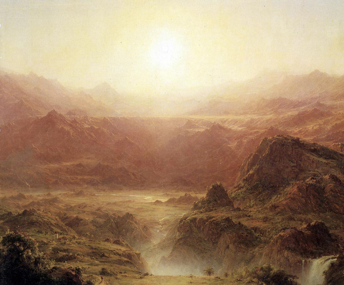 The Andes of Ecuador Detail - Frederick Edwin Church