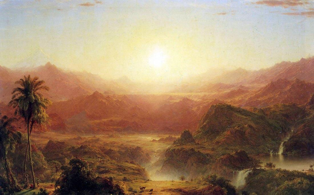 The Andes of Ecuador - Frederick Edwin Church