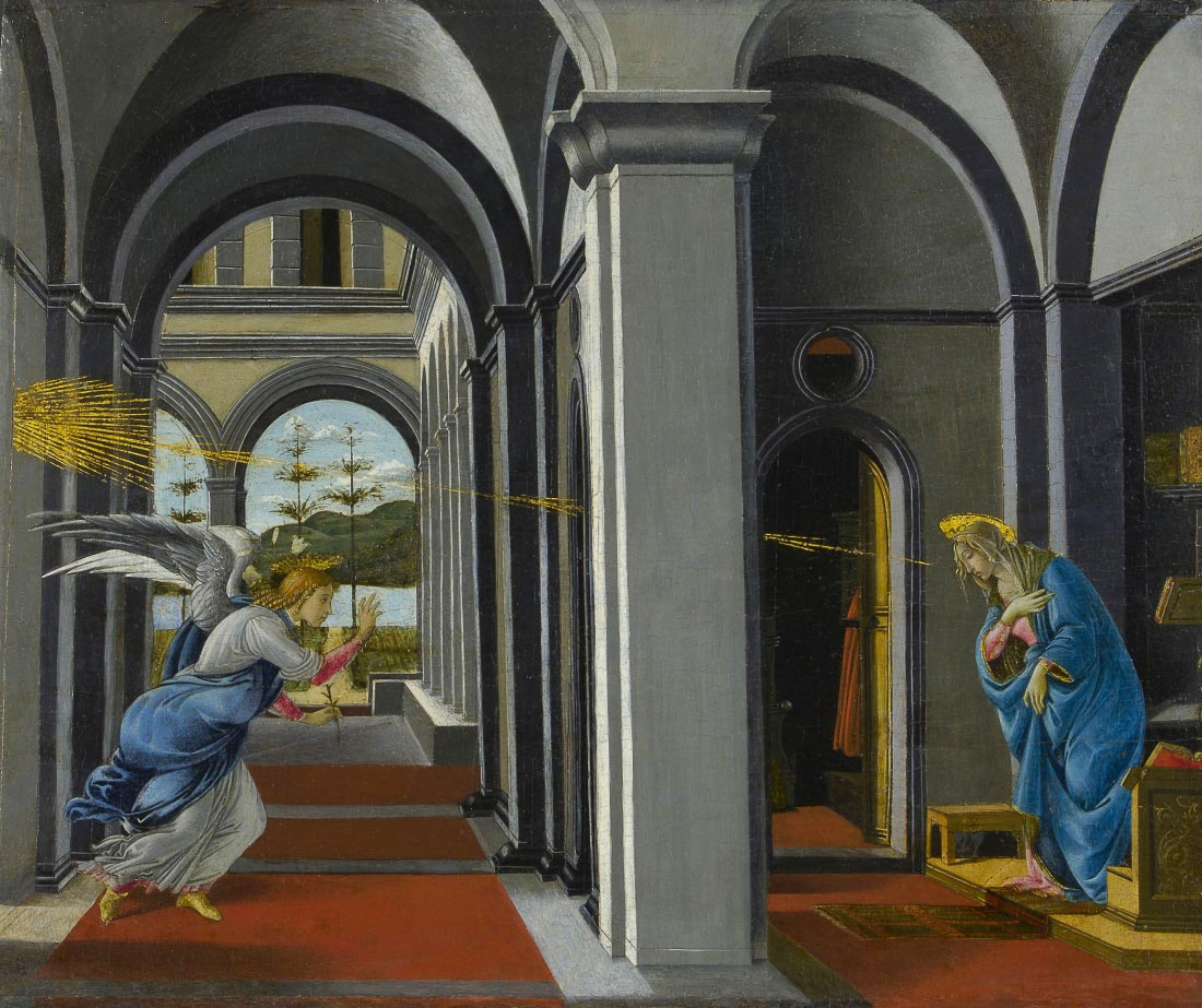 The Anunciation - Botticelli