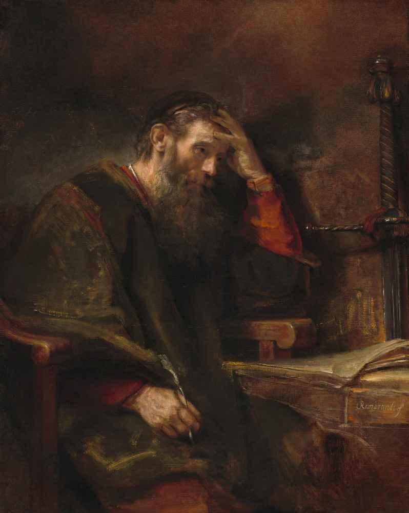 The Apostle Paul - Rembrandt Harmenszoon van Rijn
