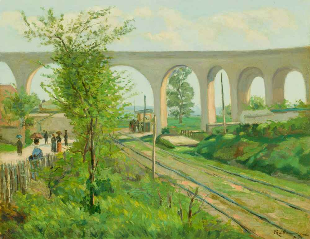 The Arcueil Aqueduct at Sceaux Railroad Crossing - Armand Guillaumin