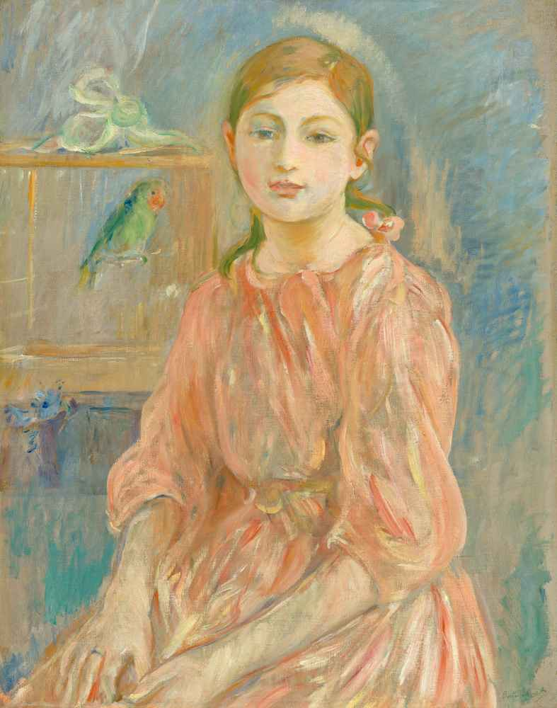 The Artists Daughter with a Parakeet, 1890 - Berthe Morisot