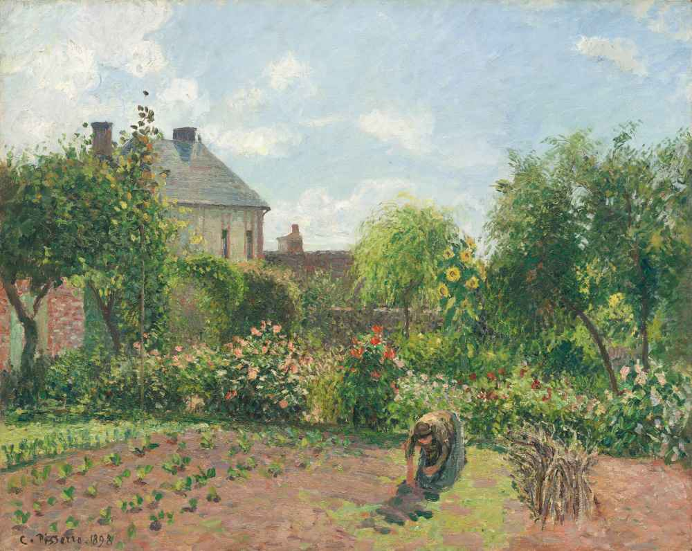 The Artists Garden at Eragny - Camille Pissarro