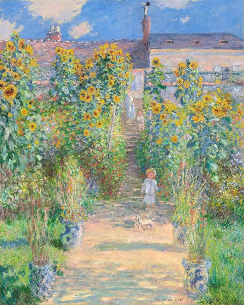 The Artists Garden at Vétheuil - Claude Monet