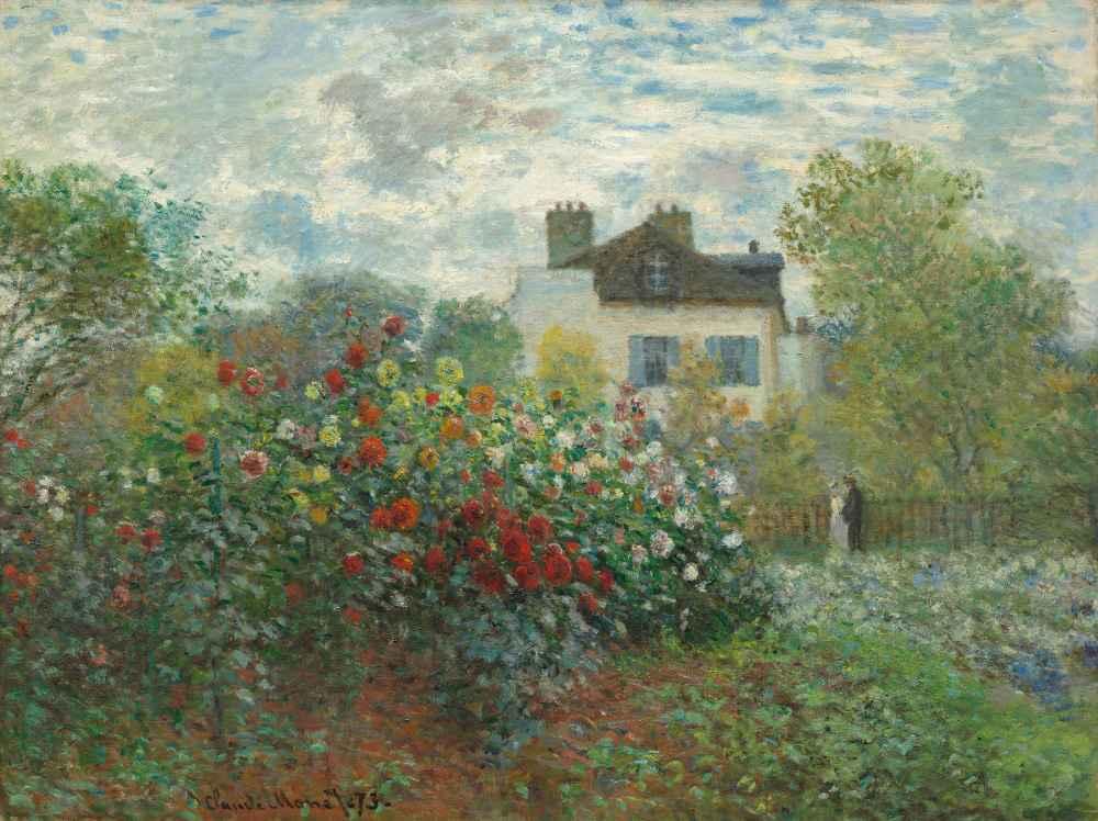 The Artists Garden in Argenteuil (A Corner of the Garden with Dahlias)