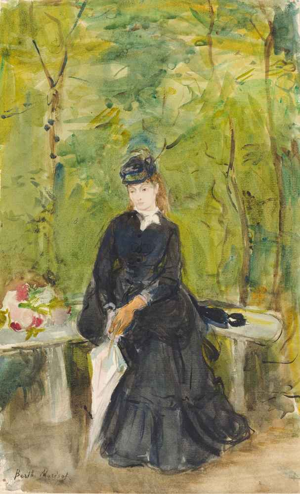 The Artists Sister Edma Seated in a Park, 1864 - Berthe Morisot