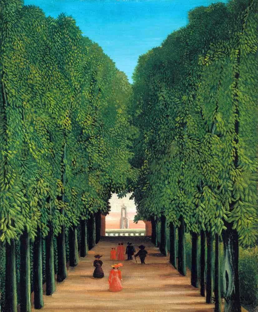 The Avenue in Saint-Cloud Park - Henri Rousseau