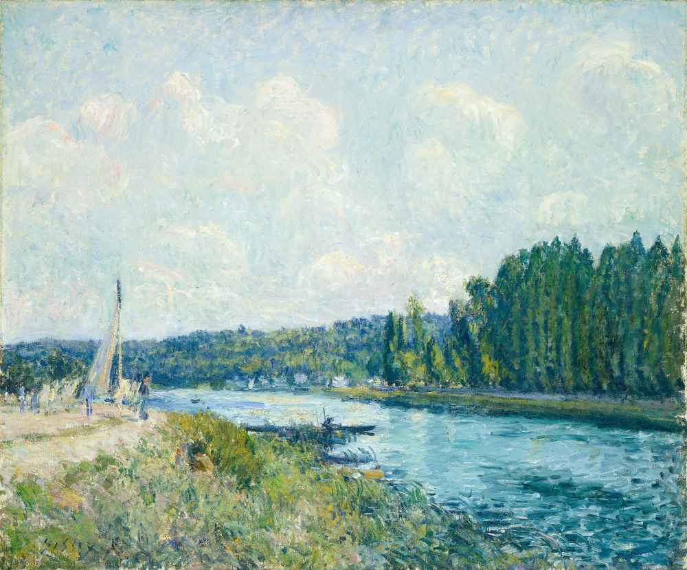 The Banks of the Oise 2 - Alfred Sisley