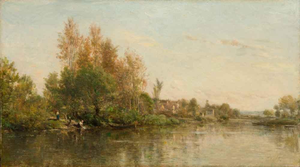 The Banks of the Oise - Charles-Francois Daubigny