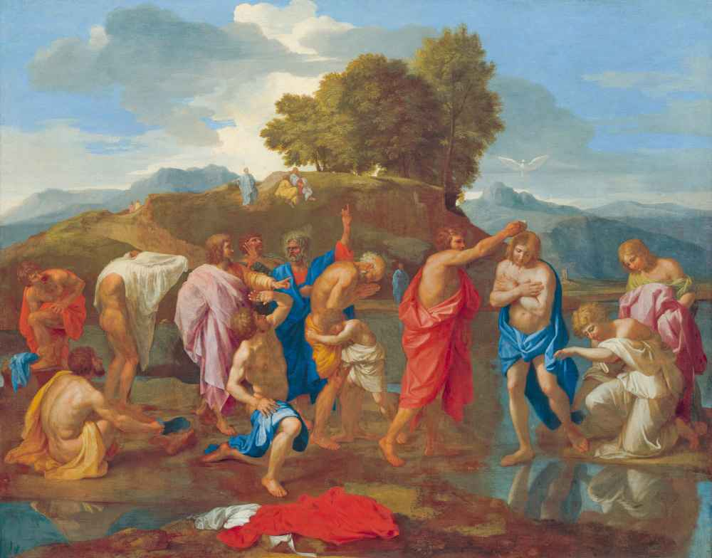 The Baptism of Christ - Nicolas Poussin
