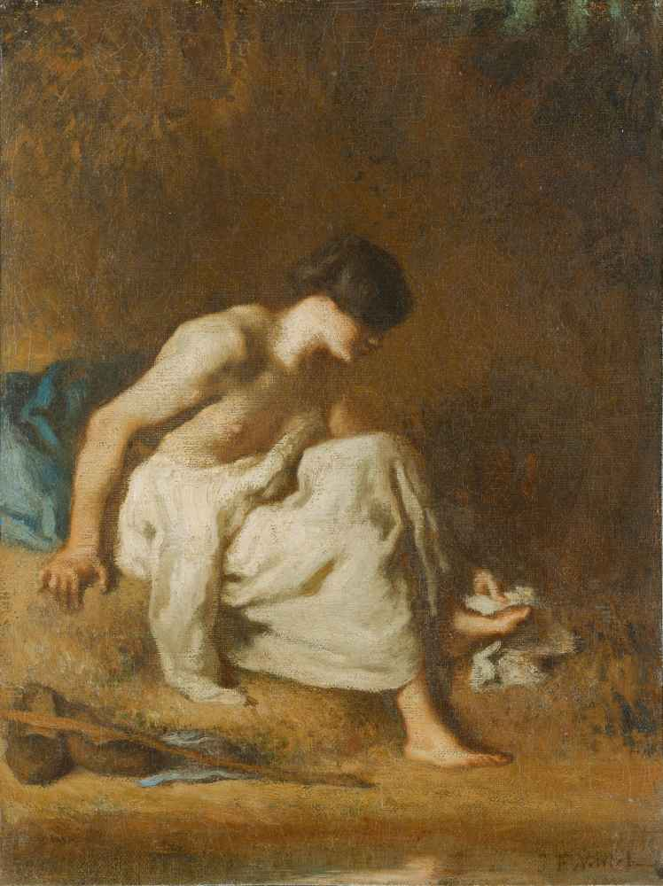 The Bather 2 - Jean Francois Millet