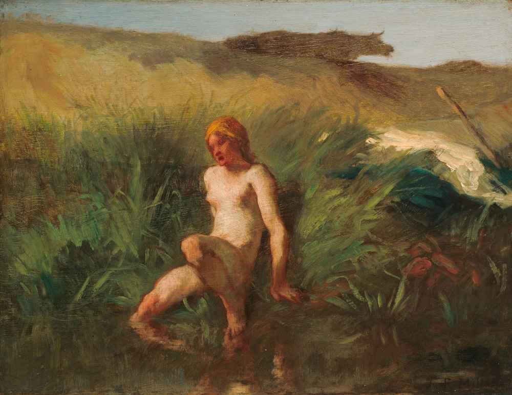The Bather - Jean Francois Millet