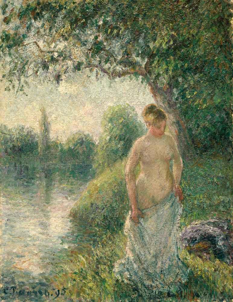 The Bather - Camille Pissarro
