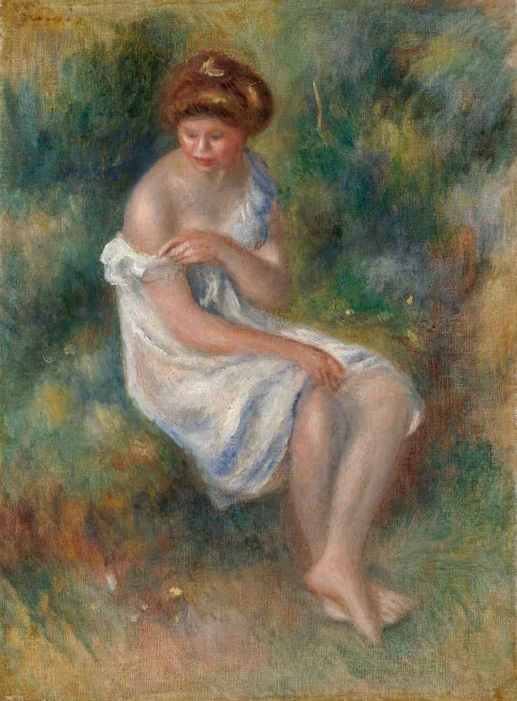 The Bather - Auguste Renoir
