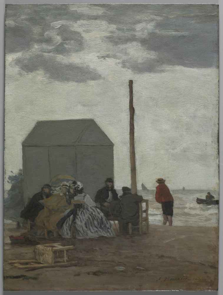 The Beach at Deauville - Eugene Boudin