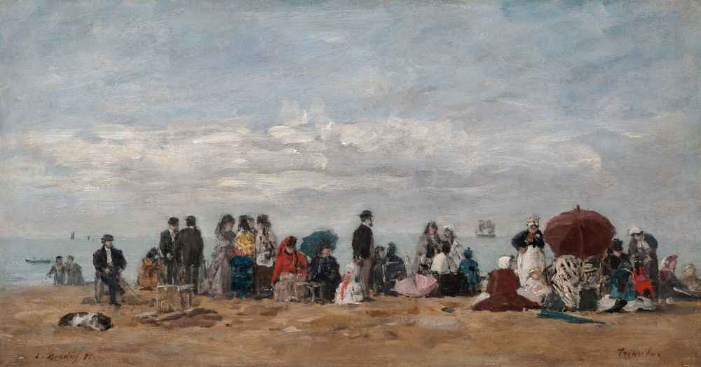 The Beach at Trouville 2 - Eugene Boudin