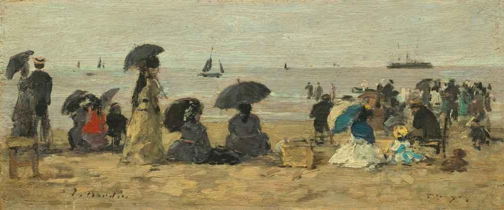 The Beach - Eugene Boudin