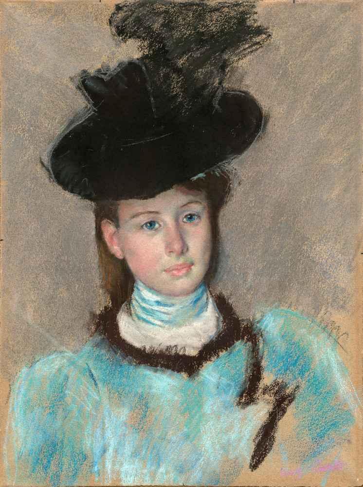 The Black Hat - Mary Cassatt