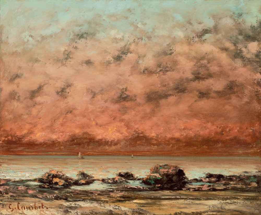 The Black Rocks at Trouville - Gustave Courbet
