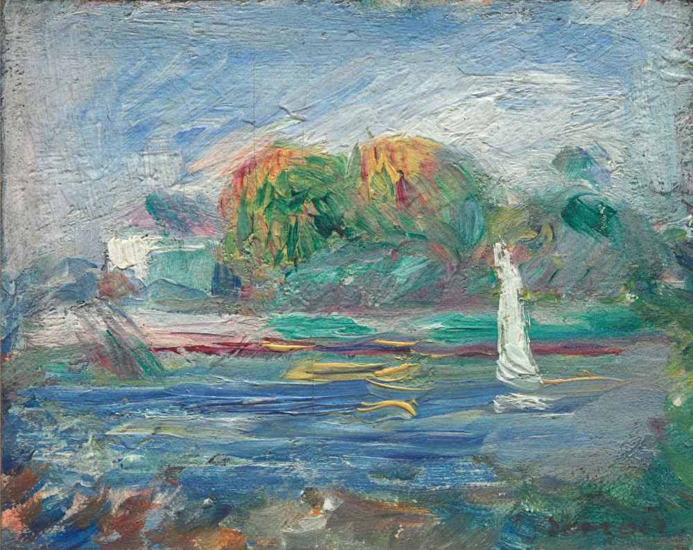 The Blue River - Auguste Renoir