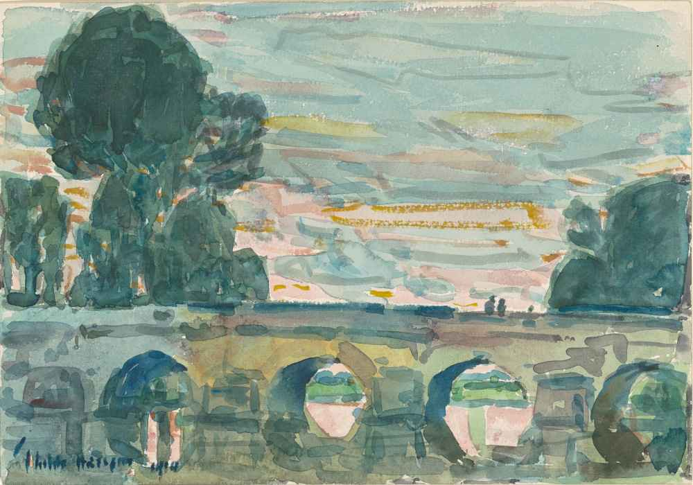 The Bridge at Grez - Childe Hassam