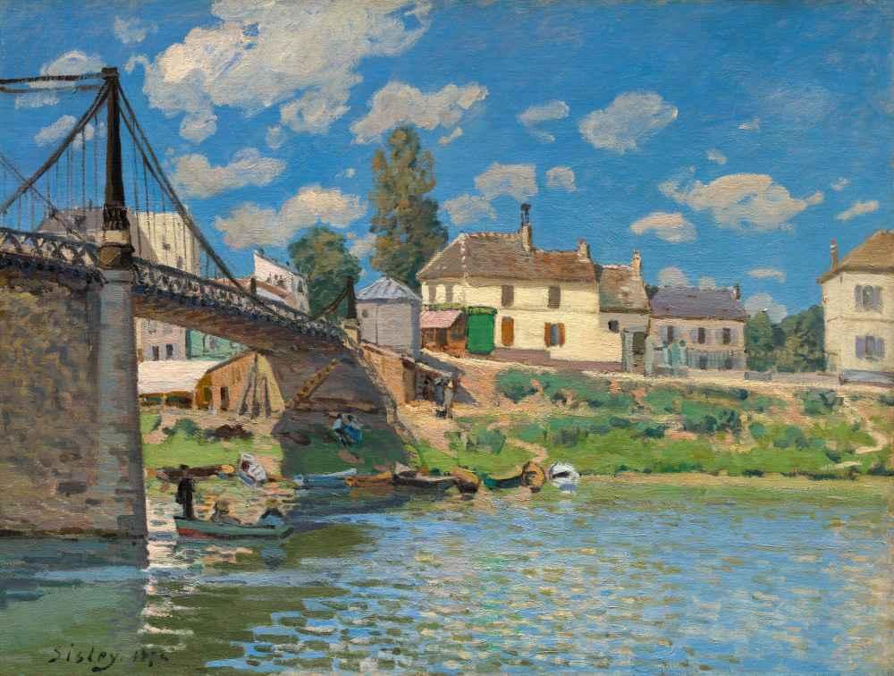 The Bridge at Villeneuve-la-Garenne - Alfred Sisley