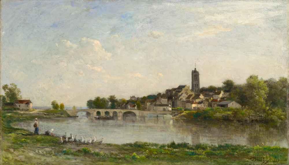 The Bridge between Persan and Beaumont-sur-Oise - Charles-Francois Dau