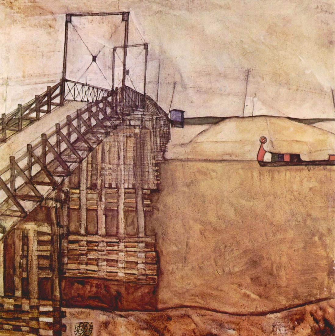 The Bridge - Schiele