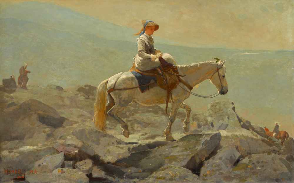 The Bridle Path White Mountains - Winslow Homer