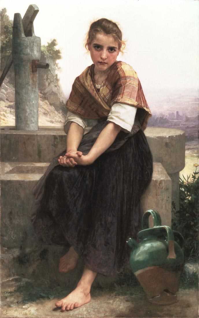 The Broken Pitcher - Bouguereau