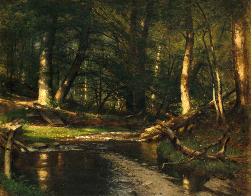 The Brook in the Woods - Worthington Whittredge