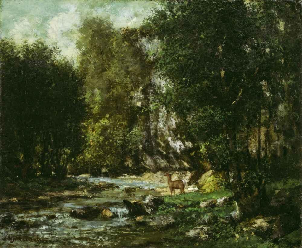 The Brook of Les Puits-Noir - Gustave Courbet