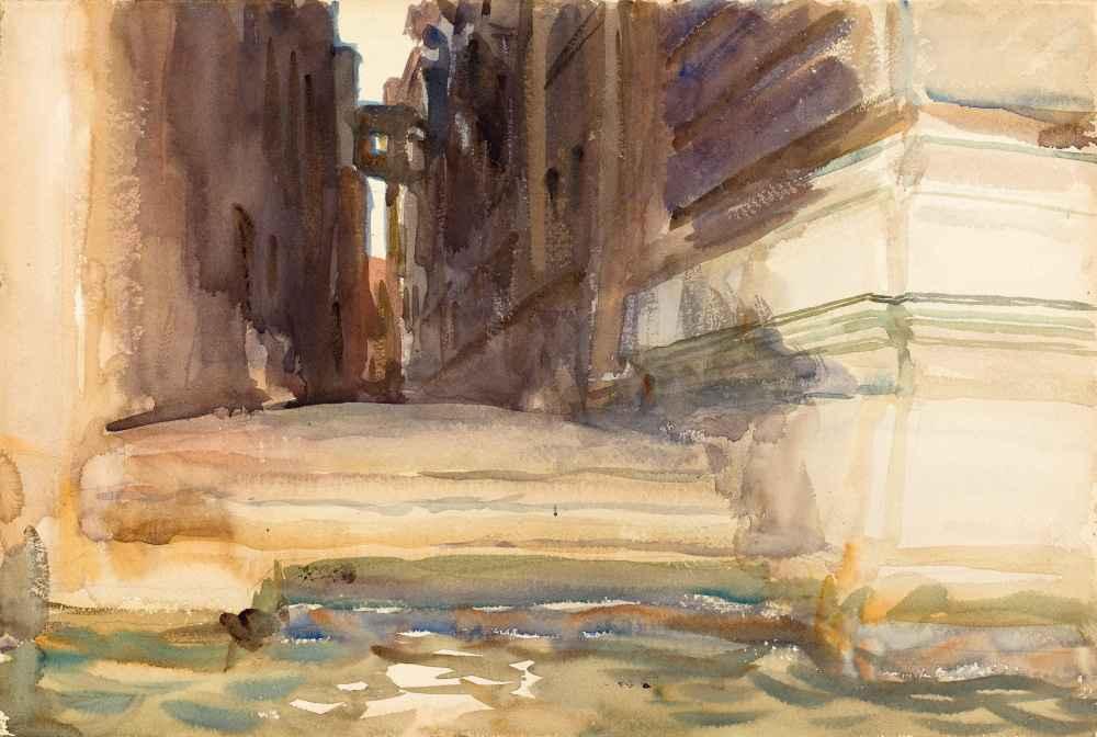 The Calle della Rosa with the Monte di Pietà, Venice - John Singer Sar