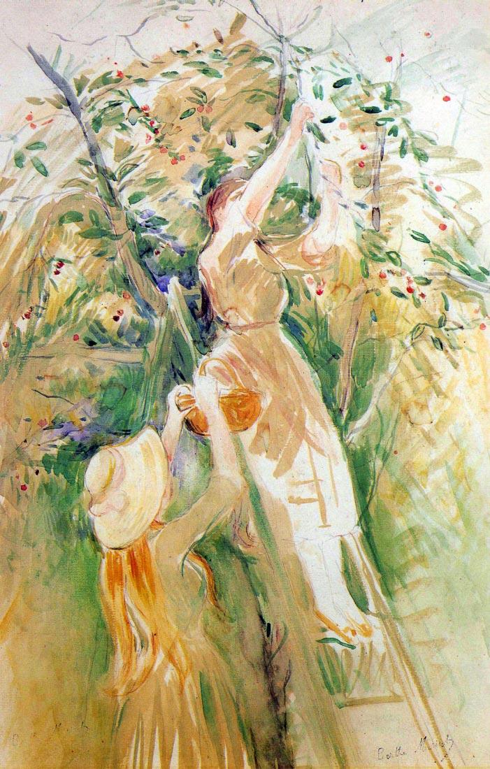 The Cherry Tree, study - Morisot