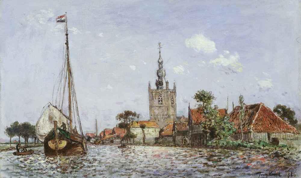 The Church of Overschie - Johan Barthold Jongkind