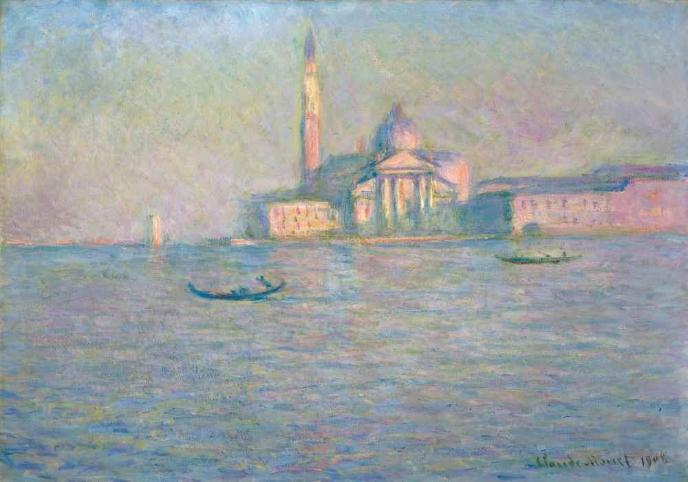 The Church of San Giorgio Maggiore, Venice - Claude Monet