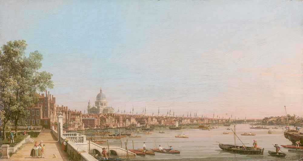 The City from Near the Terrace of Somerset House - Canaletto - Bernard