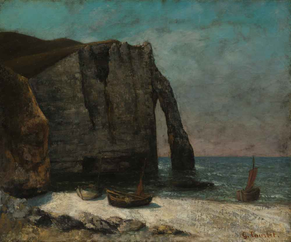 The Cliff at Étretat - Gustave Courbet