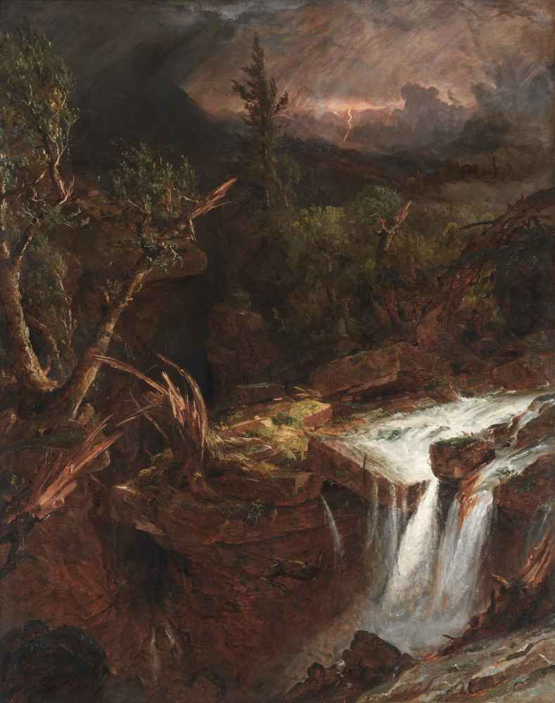 The Clove - A Storm Scene in the Catskill Mountains - Jasper Francis C